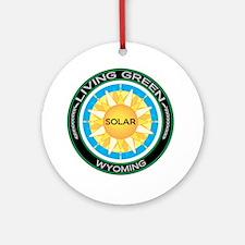Living Green Wyoming Solar Energy Ornament (Round)