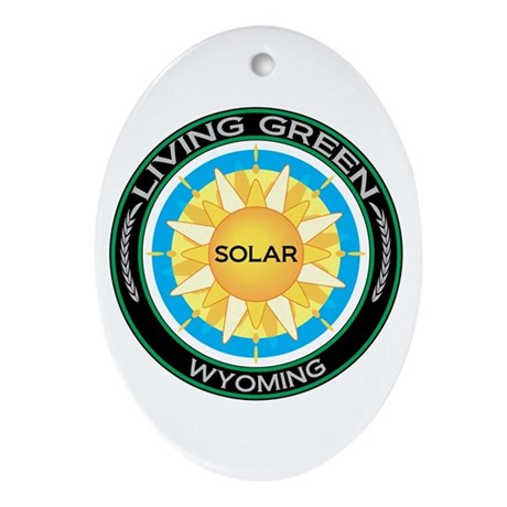 Living Green Wyoming Solar Energy Oval Ornament