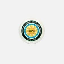 Living Green Wyoming Solar Energy Mini Button