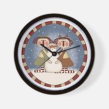 Ragdolls and Snowman Wall Clock