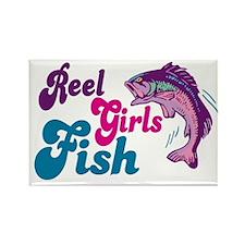 Reel Girls Fish Rectangle Magnet
