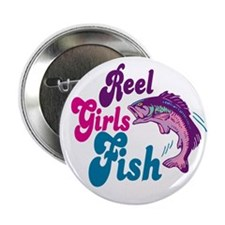 Reel Girls Fish Button