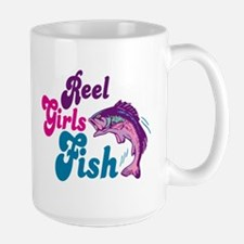 Reel Girls Fish Large Mug