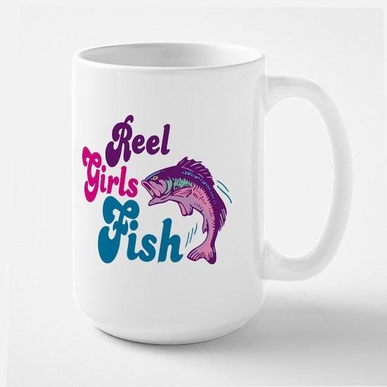 Reel Girls Fish Large Mug