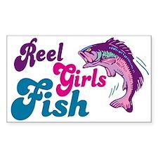 Reel Girls Fish Rectangle Decal