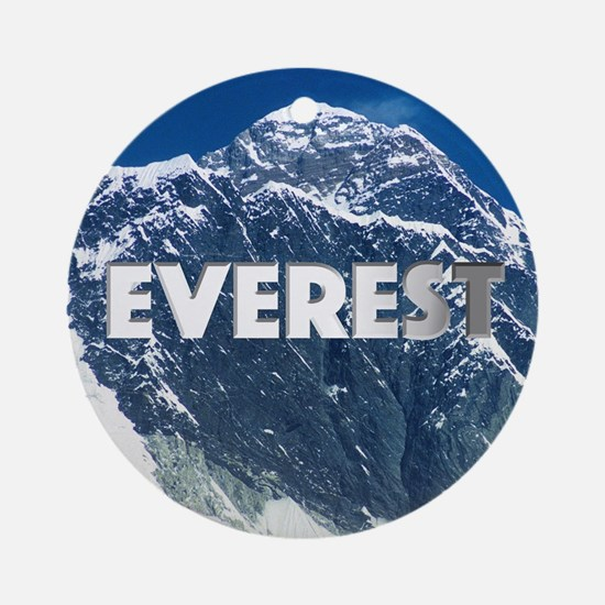 Cute Mount everest Round Ornament