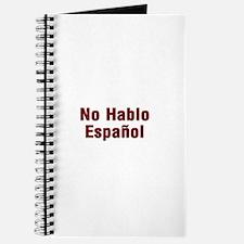 No Hablo Espanol Journal