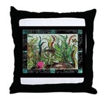 Mother Guppy with Babies Throw Pillow