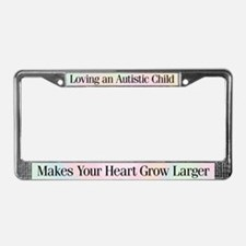 Growing Heart License Plate Frame