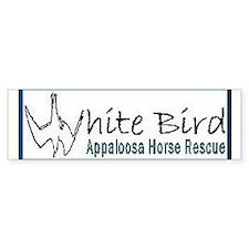 White Bird Appaloosa Horse Re Bumper Bumper Sticker