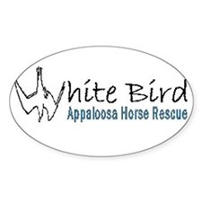 White Bird Appaloosa Horse Re Oval Decal