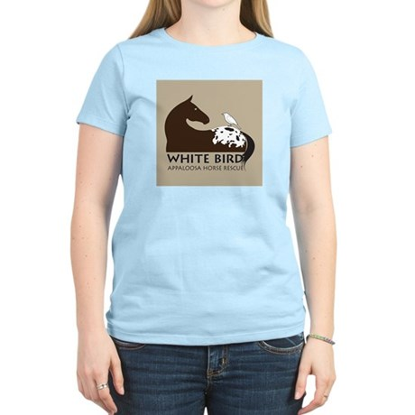 White Bird Appaloosa Horse Re Women's Pink T-Shirt
