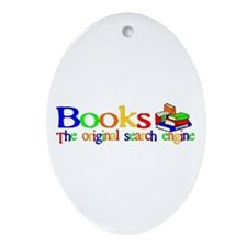 Books The Original Search Engine Oval Ornament