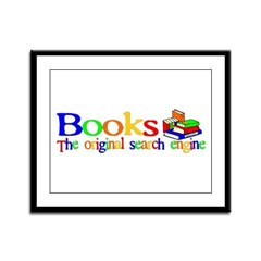 Books The Original Search Engine Framed Panel Prin