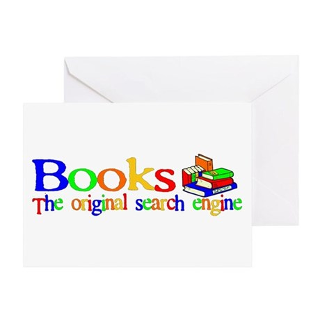 Books The Original Search Engine Greeting Card
