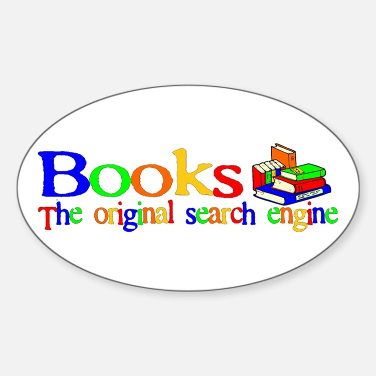 Books The Original Search Engine Oval Decal