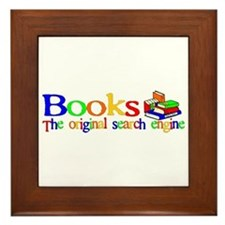Books The Original Search Engine Framed Tile