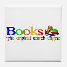 Books The Original Search Engine Tile Coaster