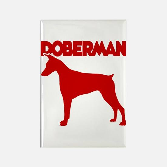 DOBERMAN Rectangle Magnet