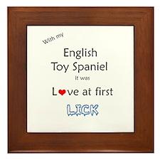 English Toy Lick Framed Tile