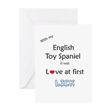 English Toy Lick Greeting Card
