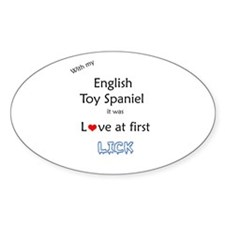 English Toy Lick Oval Decal