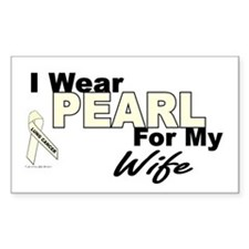 I Wear Pearl 3 (Wife LC) Rectangle Decal