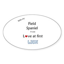 Field Spaniel Lick Oval Decal