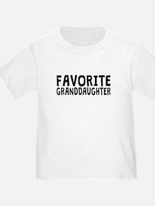 Favorite Granddaughter T-Shirt
