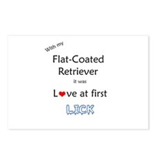 Flat-Coat Lick Postcards (Package of 8)