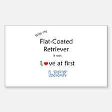 Flat-Coat Lick Rectangle Decal