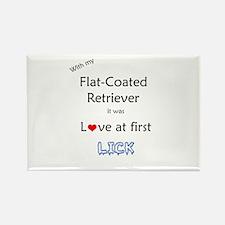 Flat-Coat Lick Rectangle Magnet