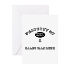 Property of a Sales Manager Greeting Cards (Pk of