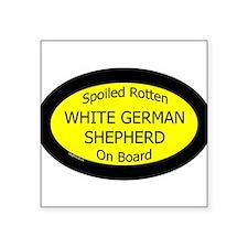 "Cute Black german shepherd dog Square Sticker 3"" x 3"""