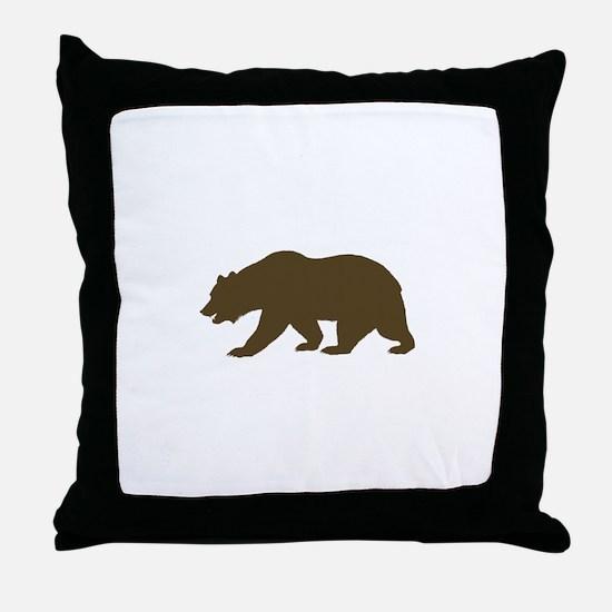 California Bear Throw Pillow