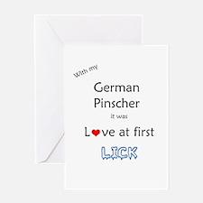 Pinscher Lick Greeting Card