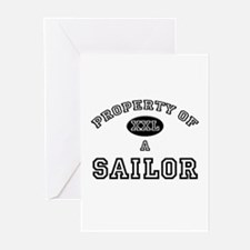 Property of a Sailor Greeting Cards (Pk of 10)