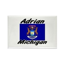Adrian Michigan Rectangle Magnet