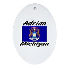 Adrian Michigan Oval Ornament