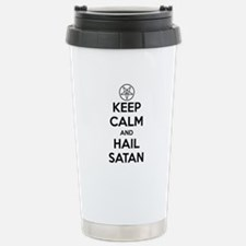 Keep Calm and Hail Sata Stainless Steel Travel Mug