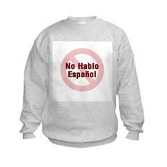 No Hablo Espanol - Red Circle Sweatshirt