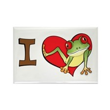 I heart frogs Rectangle Magnet