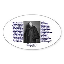 G. K. Chesterton Oval Decal