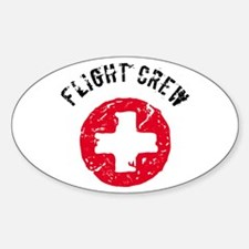 Flight Crew Oval Decal