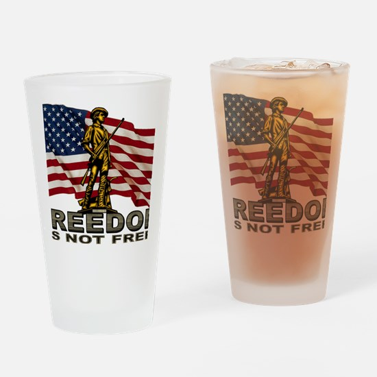 FREEDOM.png Drinking Glass