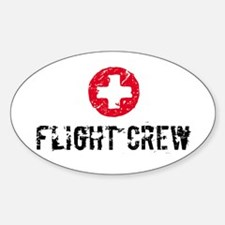 Flight Crew SM Oval Decal