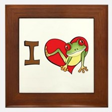 I heart frogs Framed Tile
