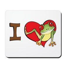 I heart frogs Mousepad