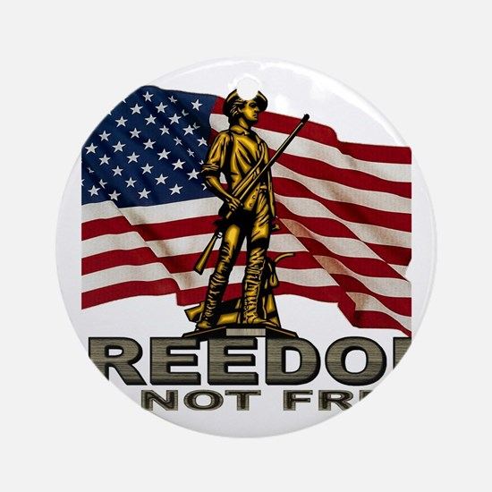 FREEDOM.png Round Ornament