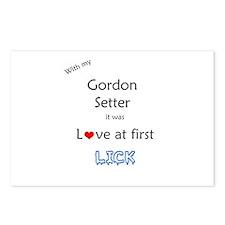 Gordon Setter Lick Postcards (Package of 8)